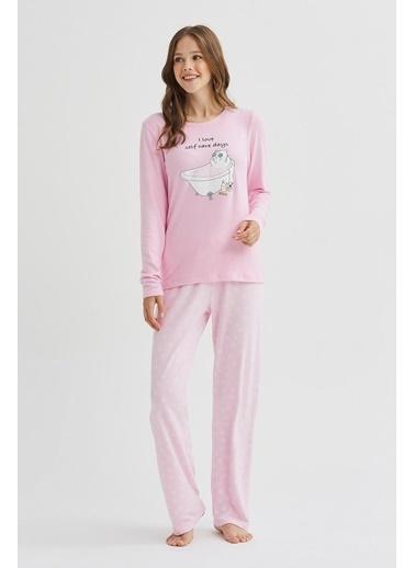 Penti Self KitTermal Pijama Takımı Renkli